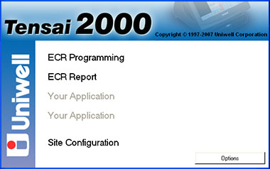 Tensai2000 - ECR programming and report taking